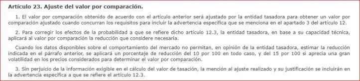 articulo 23 10-15 porcentaje